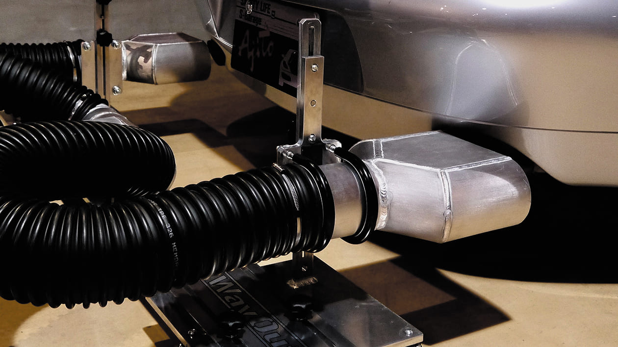 排気ガス屋外排出システム